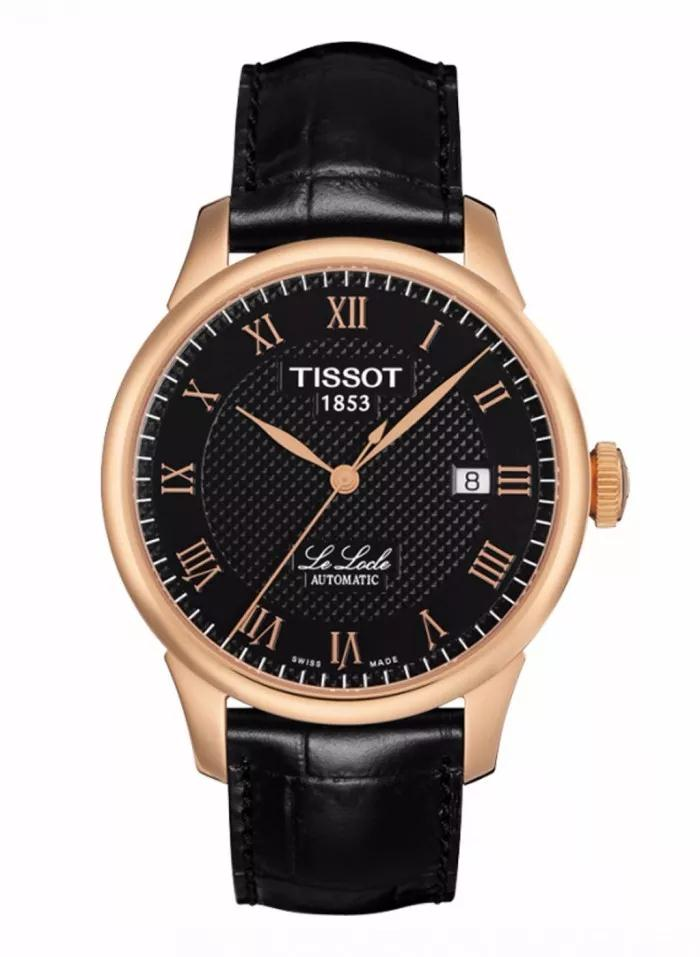 The rose gold coated hands and hour markers along with the contrasting black background lead to a ultra legibility of the watch.