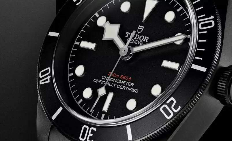 The Black Bay is water resistant to a depth of 200 meters.