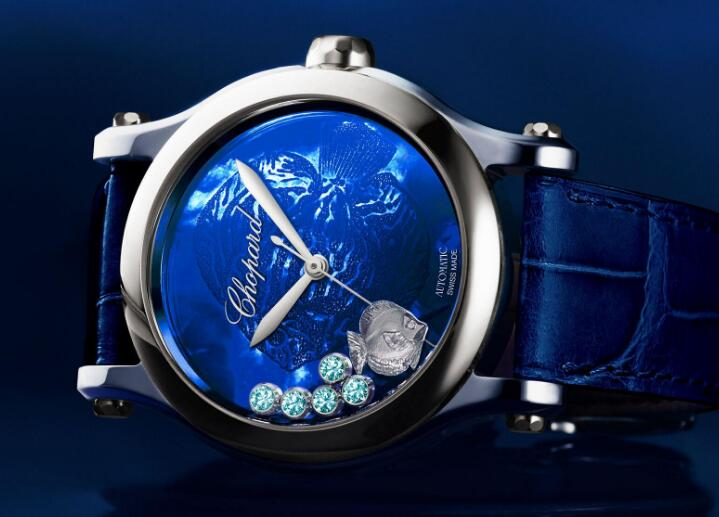 Chopard uses the gemstones to present the beauty of the ocean.