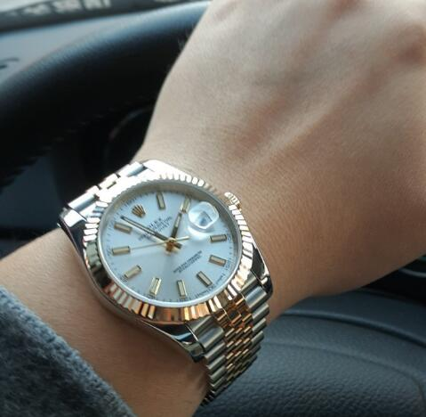 The 36mm Rolex Datejust has been considered as the most comfortable size for wearers.