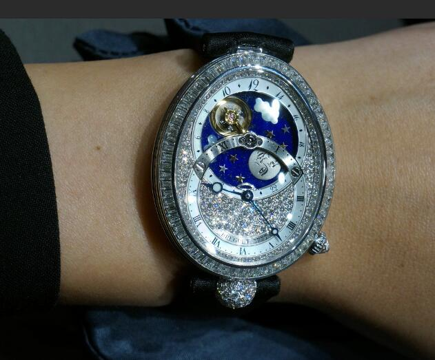 Forever imitation watches are covered with diamonds.