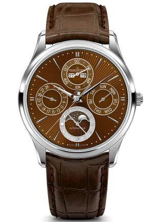 Swiss knock-off watch for discount sale is appealing with brown color.
